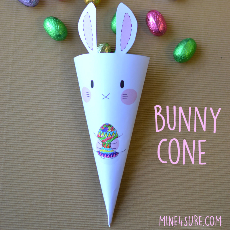 EASTER DIY : A cute bunny cone