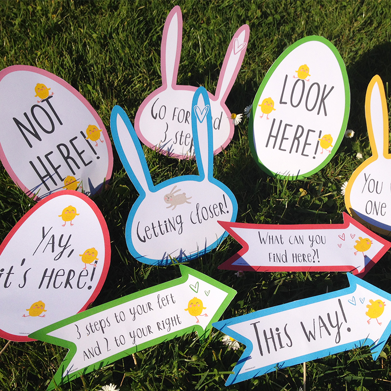 Egg Hunt free printable for Easter!