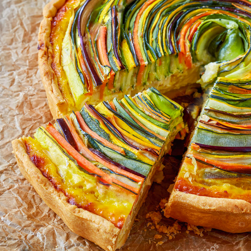 Courgette and carrot quiche recipe: quick and easy!