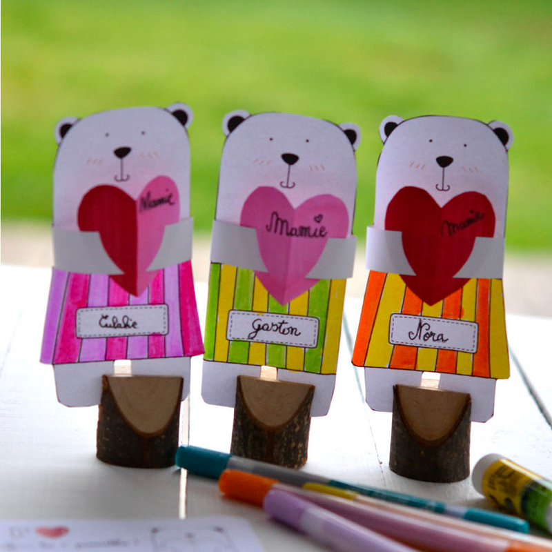 Mother's Day DIY: Little bear cubs full of love!